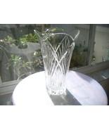 "Elegant 10"" Lead Crystal Flared Flower Vase - $23.76"