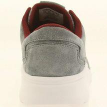 Supra Noiz Steel/Burgundy-White Suede Jacquard Lightweight Skateboarding Shoes image 4