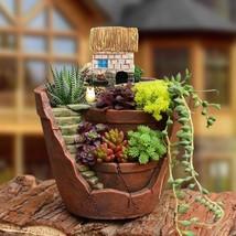 Flower Pot Mini Succulent Plant Bonsai Micro Landscape Planter Garden De... - $16.99