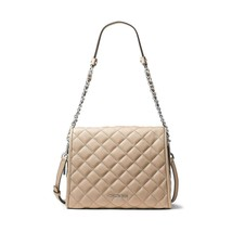 NWT MICHAEL KORS Rachel Quilted Leather Satchel Shoulder Bag Bisque 30T6... - $192.61