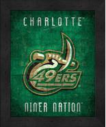 "Charlotte Niner Nation ""Retro College Logo Map"" 13x16 Framed Print  - $39.95"