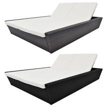vidaXL Double Sunlounger Rattan Wicker Garden Patio Daybed Lounge Bed 2 ... - $361.99+