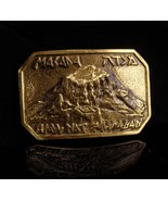 Vintage jewish buckle / mens belt buckle / Judaica Jewelry / Masada / ha... - $125.00