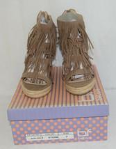 BF Betani Shiloh 8 Stone Fringe Wedge Heel Sandals Size 7 image 1