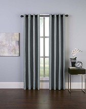 "Curtainworks Malta Curtain Panel, 50 by 132"", Teal Gray-Blue - $33.50"