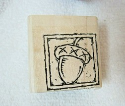 2001 Stampin Up Rubber Stamp Fall Autumn Acorn Never Used ! - $8.42