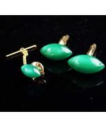 Vintage Football cufflinks / swank moonglow set / green gold cufflinks /... - $155.00
