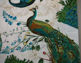 1/2 yard colorful Peacocks/birds cotton quilt fabric -free shipping image 5