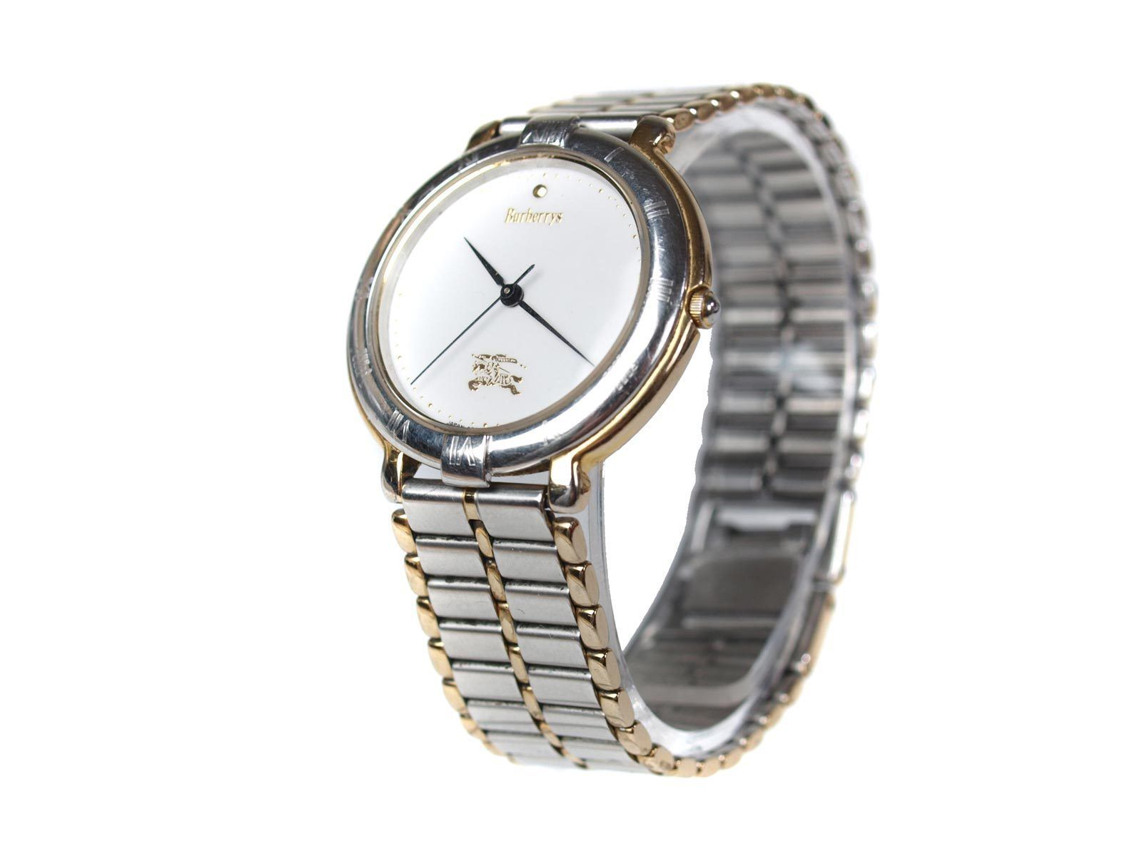 Authentic BURBERRYS White Dial Stainless Steel Women's Quartz Watch BW5114L