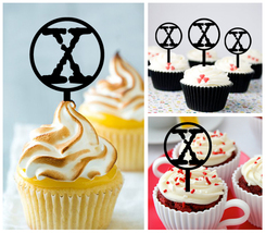Ca393 Decorations cupcake toppers the x files movie Package : 10 pcs - $10.00