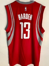 Adidas NBA Jersey Houston Rockets James Harden Red sz M - $9.86+