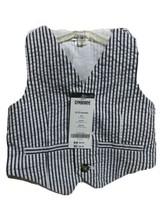 Gymboree Infant Boys White Gray Stripe Vest Size 6-12 Months New - $9.80