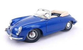 1961 Porsche 356 B Cabriolet Blue 1/24 Diecast Model Car By Bburago - $13.23