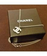 CHANEL Pendant Necklace CC Logo silver Chain R250 - $375.21