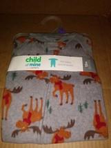 Carters Child Of Mine Reindeer Gray Christmas Pajamas 12 Months - $6.99
