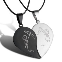 2017 New Style Broken Heart Parts 2 Best Friend Necklaces & Pendants Sha... - $9.73