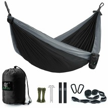 Camping Hammock, Lax Portable Double Durable Hammock Backpacking, Travel... - $35.99+