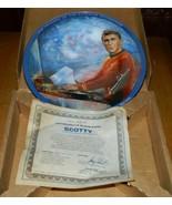 Classic Star Trek Scotty Ceramic Plate 1986 Ernst James Doohan Autograph... - $125.77