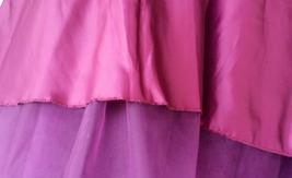 Women High Waisted Tulle Skirt Purple A Line Midi Tulle Skirt Prom Party Skirts image 3