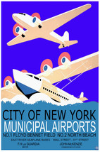 Vintage POSTER.Stylish Graphics.New York Hydroplane.Room, Bar Decor.706i - $10.89+