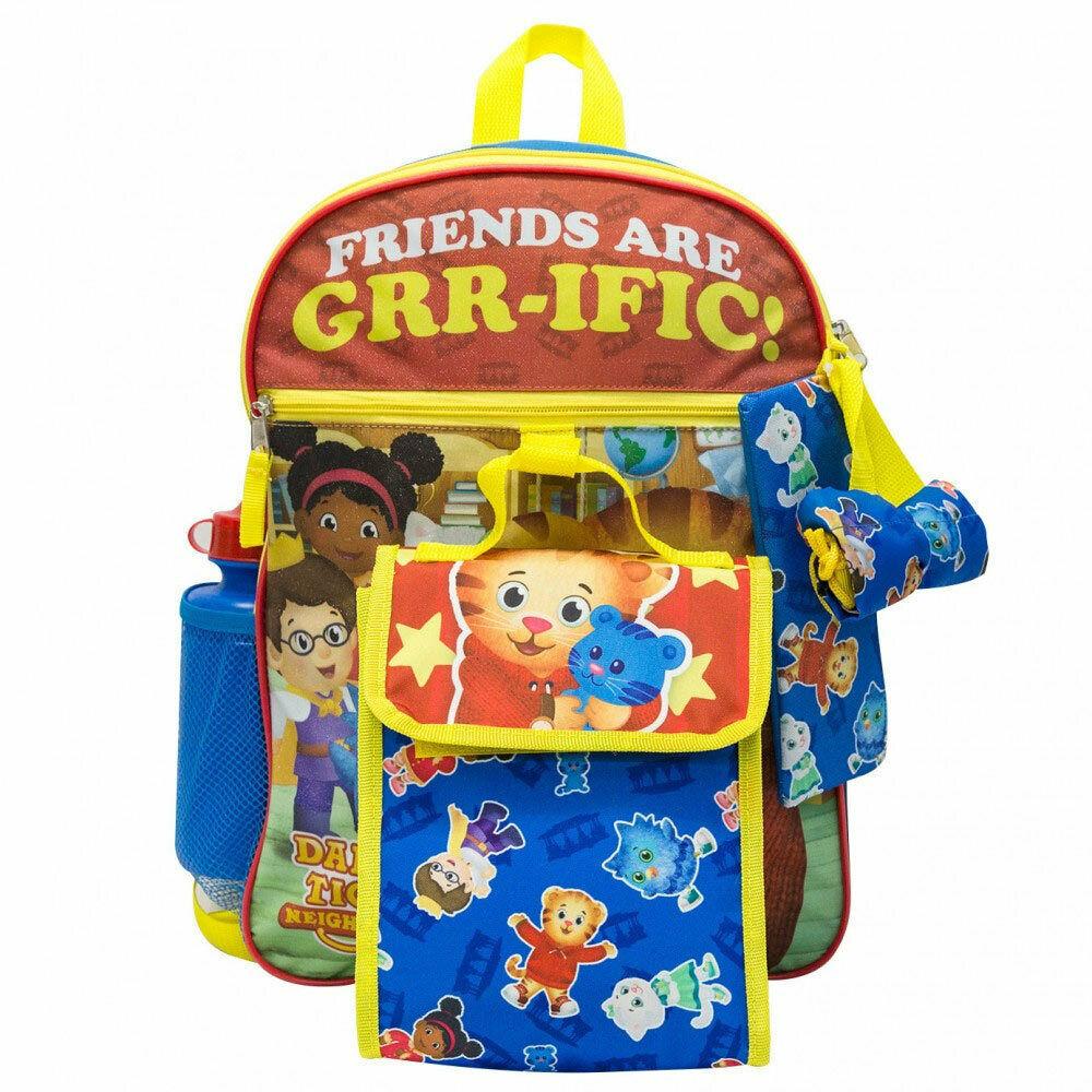 Daniel Tiger 5 Piece Backpack Set Blue