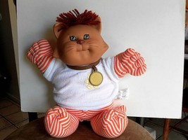 Koosas 1983 Cabbage Patch Kids CAT DOLL Orange Stripes Whiskers Vintage CPK Doll - $29.99