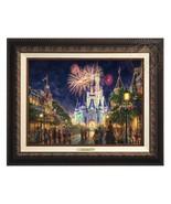 Thomas Kinkade Studios Disney Main Street EEUU 12x16 Clásico (Aged Bronc... - $374.98