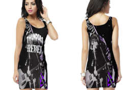 Johnny Thunders Rebel 70's Punk, Glam, Legend Womens Bodycon Sleeveless Short M - $17.99+
