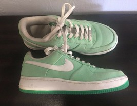 Nike Air Force 1 One Mint Green Canvas Low Women's 9 (M) - $23.71