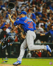 MIKE MONTGOMERY Signed Cubs 2016 World Series 16x20 Photo w/Last Pitch -... - $98.01