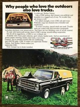 1978 GMC Trucks PRINT AD People Who Love the Outdoors Family Dog Camping Tents - $10.89
