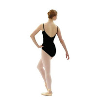 Capezio 9933T Women's Large (12-14) Black Adjustable Strap Camisole Leotard - $19.79