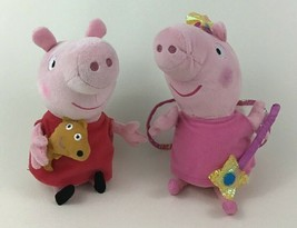 """Ty Beanie Babies Baby Peppa Pig Princess and Red Dress Lot 8"""" Plush Stuf... - $14.80"""