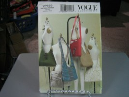 Vogue VP689 Handbags Pattern - 10 X 12 & 14.5  X 12.5  - $12.86