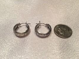 Pre Owned - 14k White Gold Hoop Earrings. Very Nice/ Not Scarp. - $58.41