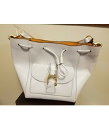 Dooney and Bourke EMERSON Leather Drawstring Bag MARLOWE In BLACK New - $200.00