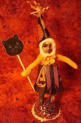 Vintage inspired Spun Cotton Halloween girl