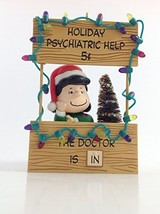 Hallmark Peanuts 2003 Ornament Lucy Mood Booth - Holiday Advice Booth - $43.97