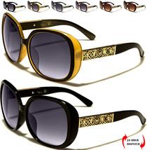 NUOVO Kleo Designer DONNA OVALI GRANDE Moda Occhiali da sole oro - $15.62