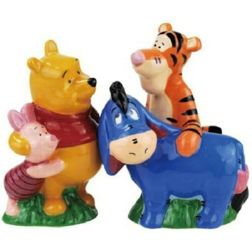Primary image for Walt Disney Winnie the Pooh with Best Friends Ceramic Salt & Pepper Shakers NEW