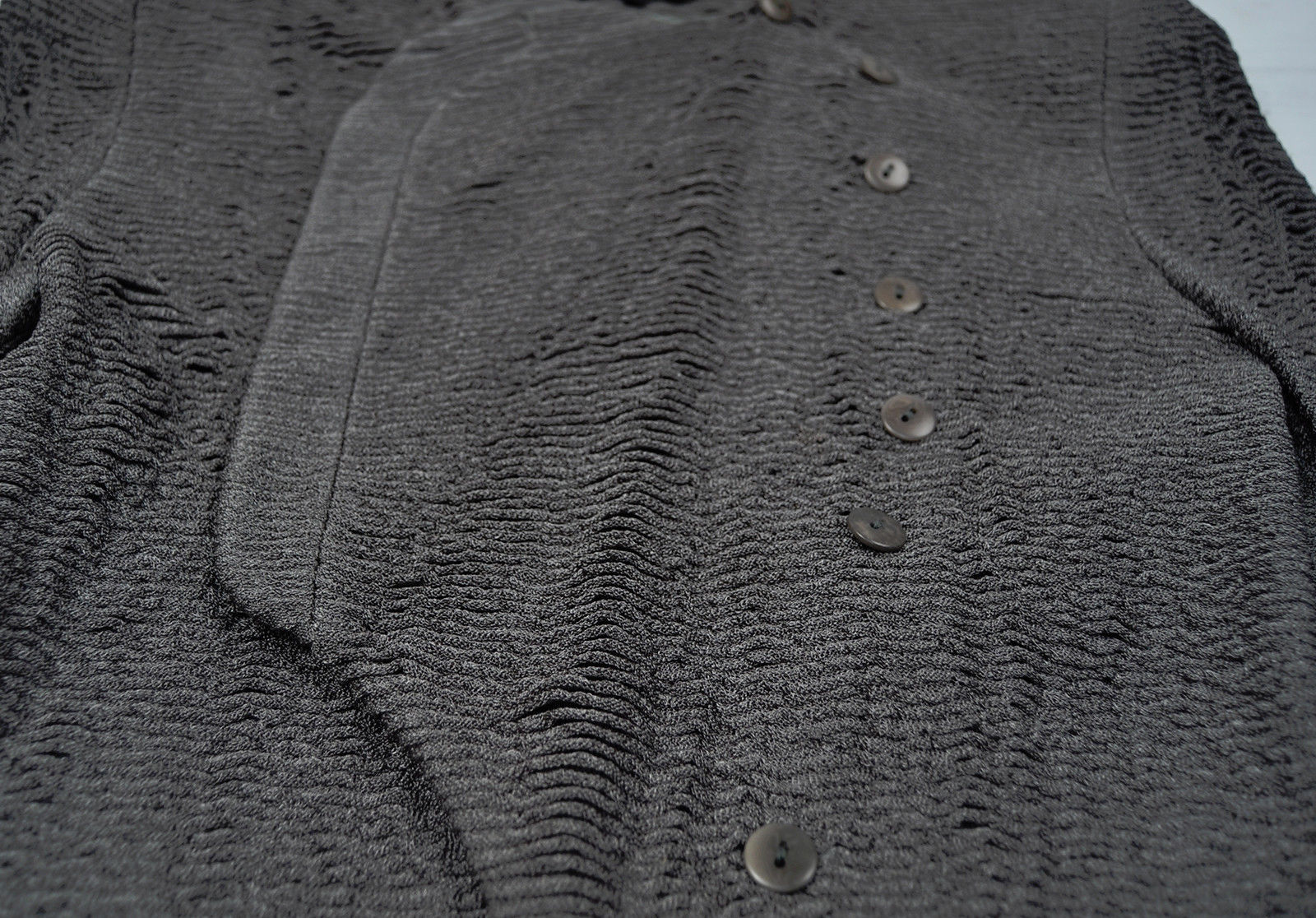 Giorgio Armani Black Label Green Ruffled Jacket Womens 46 12 Italy