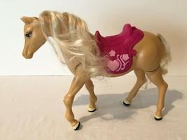 Barbie Self Walking Palomino Horse Pony Tawny Brown Riding Saddle 2005  - $19.99