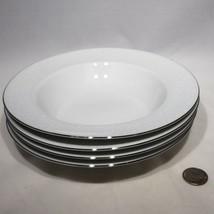 Set of 4 Johann Haviland Morning Mist Rim Soup Bowls Bavaria Germany 8.2... - $22.95
