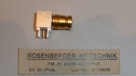 NEW ROSENBERGER 78K205-400H3 1.6/5.6 RIGHT ANGLE JACK PCB RF CONNECTOR 7... - $15.00