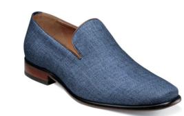 Men's Shoes Florsheim Postino Plain Toe Linen Slip On Blue 15179-400 - €92,29 EUR