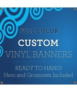 Custom Full Color Vinyl Banners with Grommets True Solvent Ink Signs (3 ... - $58.79