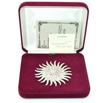 Camrose and Kross JBK Sun Starburst Brooch Clear Swarovski Crystals In Box - $50.48