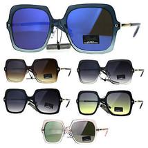 Womens Designer Mod Oversize Rectangular Diva Fashion Sunglasses - $12.95