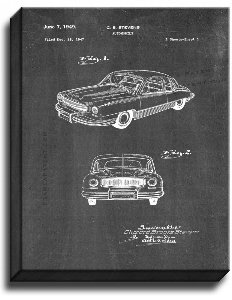 Primary image for Automobile Patent Print Chalkboard on Canvas
