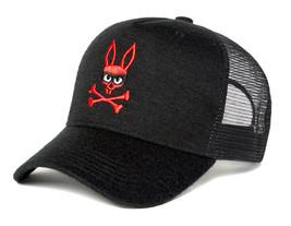 Psycho Bunny Men's Embroidered Snapback Mesh Mischief Baseball Cap Hat image 2